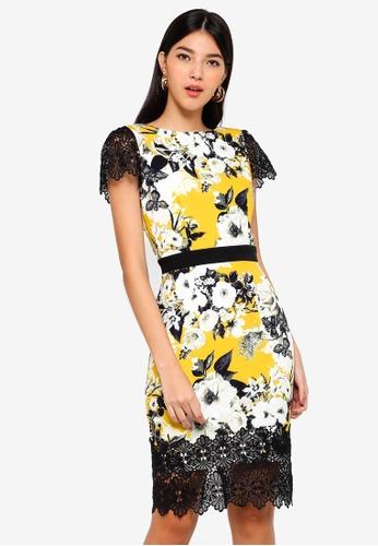 Paper Dolls multi Print Lace Hem Dress F9CA9AABF7ED3EGS_1