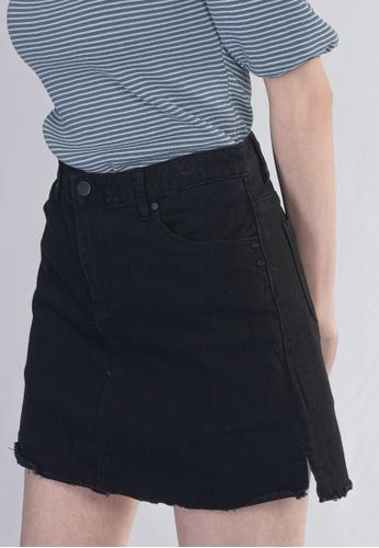 Plain B. black Plain B. Short Jeans Skirt Pants With Pockets 11FDBAAB11B2D4GS_1