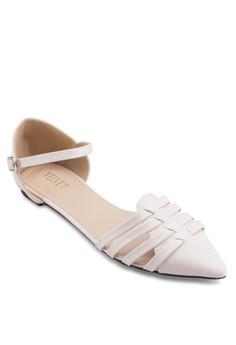 Yvonne 鏤空繞踝平底鞋
