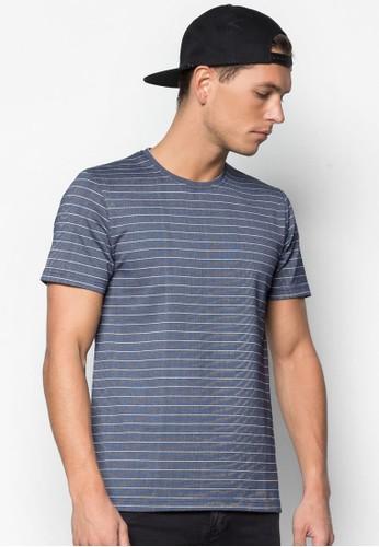 條紋短袖Tee, 服飾,zalora 評價 T恤