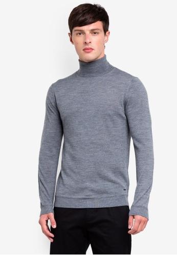 ESPRIT 灰色 長袖上衣 28DAFAA76332C5GS_1
