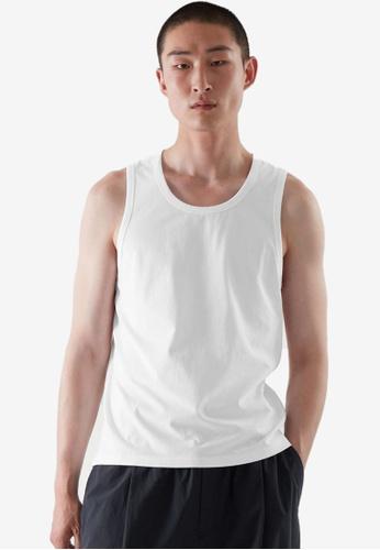 COS white Slim-Fit Vest 92D69AAE84588FGS_1