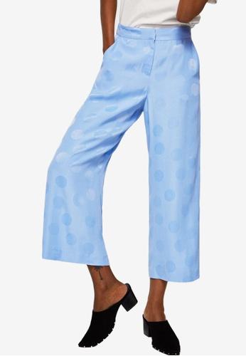 Mango blue Polka-Dot Culottes Trousers 75482AA2CEDE8AGS_1