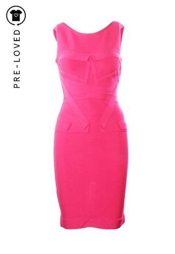 Hervé Léger pink Pre-Loved hervé léger Sleeveless Pink Mini Dress 22BADAAA25DADDGS_1