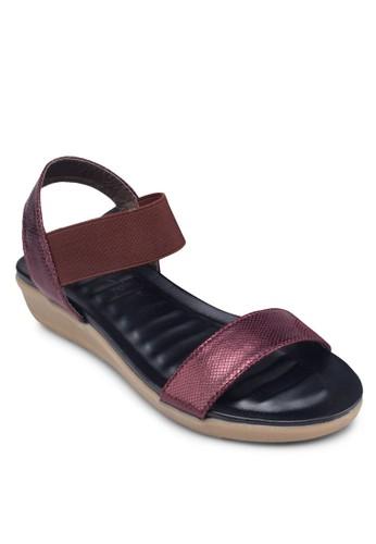 一字繞踝彈性帶涼鞋, 女鞋esprit holdings, 鞋