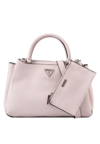 Guess pink Ambrose Turnlock Satchel Bag CD885AC826CCCAGS_1