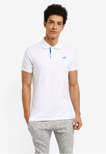 Hollister white Solid Core Polo Shirt B8CD8AA63DB879GS_1