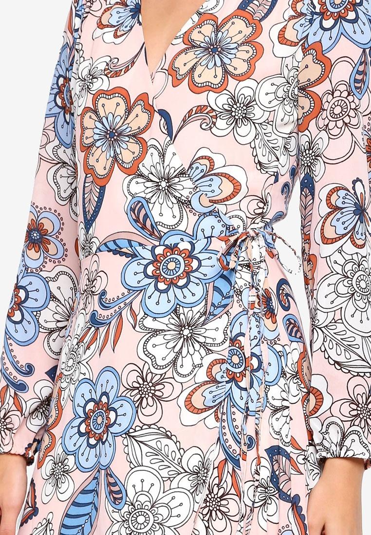 Floral Mini Navy Liquorish Print Dress FrqaFwUf