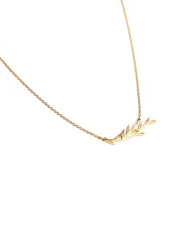 Gung Jewellery gold Maple Pendant Necklace in Gold E3B23ACA777E7FGS_1