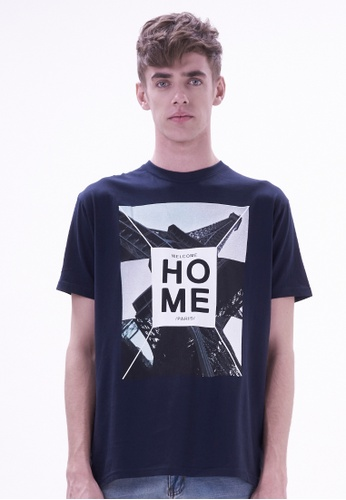 Drum navy Fashion Graphic Tee - NAVY DR425AA86SKRMY_1