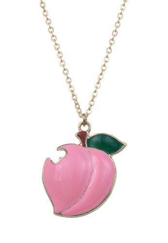 My Flash Trash pink HAPPY FRIDAY Honey peach Necklace B9EC8AC69A2B8CGS_1
