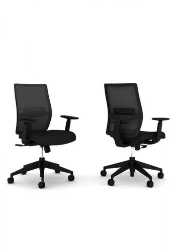 Haworth black Aloha Easy Lite Task Office Chair F7150HL658F2DCGS_1