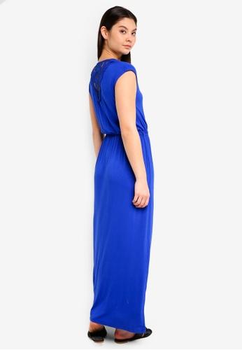 Dorothy Perkins blue Crochet Back Maxi Dress 5EA51AAD08123CGS_1