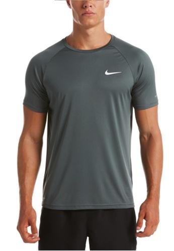 Nike grey Nike Swim Men's Essential Short Sleeve Hydroguard 45067AA4CDFF59GS_1