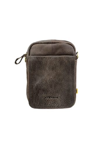 EXTREME brown Extreme Nubuck Leather Sling Bag EF002AC7480DF1GS_1
