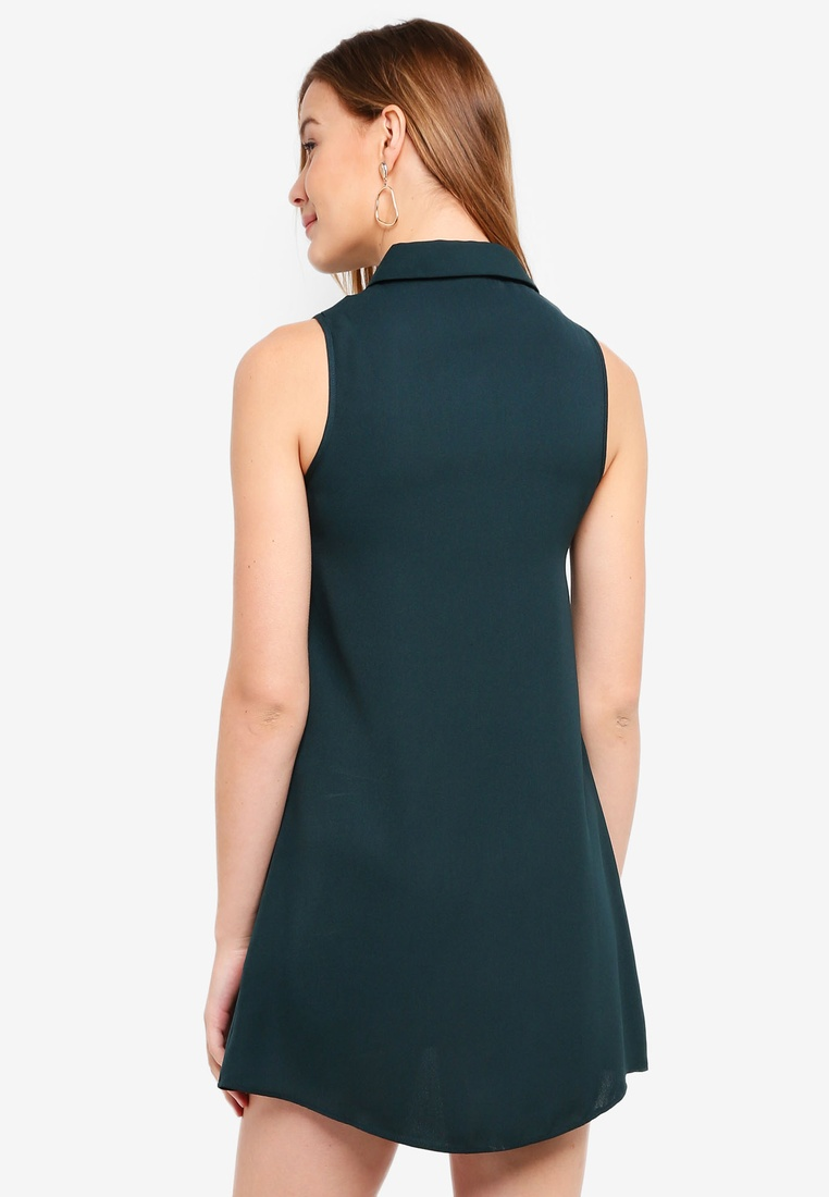 Black ZALORA Shirt Sleeveless Dress pack Green BASICS Dark 2 xTOSva1