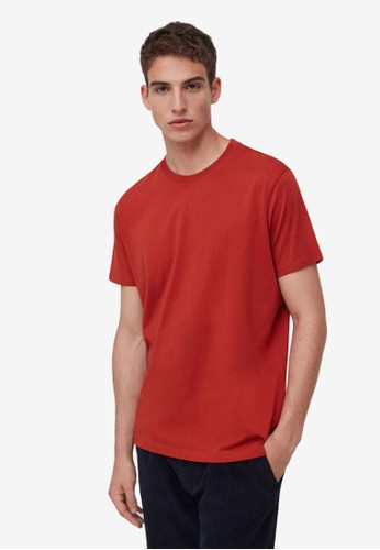 OVS red Solid Colour T-Shirt 52799AABEFBBC2GS_1