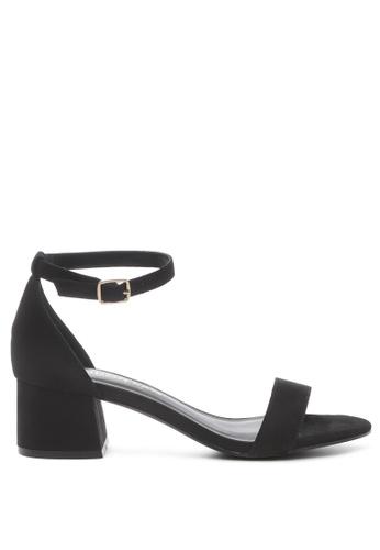 London Rag 黑色 黑色粗跟凉鞋 D4160SH228DD88GS_1