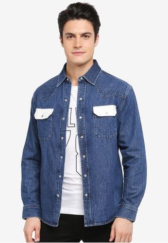 Calvin Klein navy Archive Western T-Shirt - Calvin Klein Jeans 574F1AA55D7424GS_1