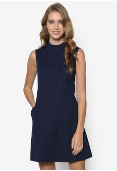 Collection High Collar Swing Dress