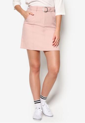 O 環腰帶短裙esprit香港門市, 服飾, 裙子