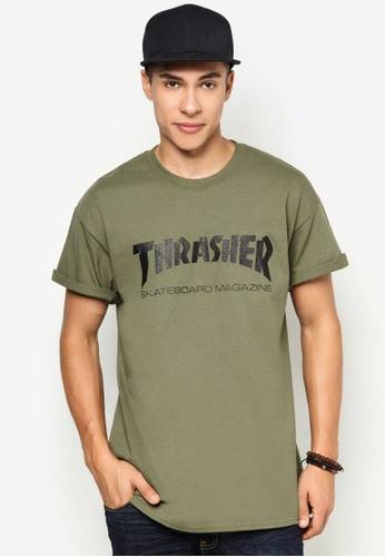 037745a27de7 Thrasher green Thrasher Skate Mag T-Shirt Army Green 291AAAAE108CF9GS 1