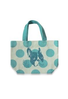 Bullton Dog Head Polka Dot Mini Lunch Tote Bag