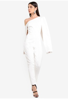 320bfea01e 42% OFF Lavish Alice One Shoulder Cape Jumpsuit S  190.90 NOW S  110.90  Sizes 6 8 10 12 14