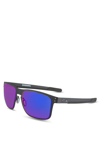 Oakley black Holbrook Metal OO4123 Sunglasses OA636GL19VUUMY_1