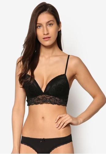 Bella 無鋼圈蕾絲拼接胸罩, esprit分店服飾, 服飾