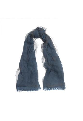 OBX blue OBX Sheer Veil Silk-blend Scarf 310D2ACC94333FGS_1