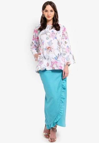 Kurung Latika With Frill Skirt from Jari Alana RTW in Blue