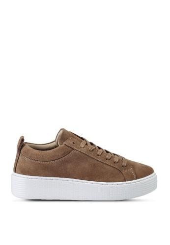 Vero Moda brown Kella Leather Sneakers EA277SH2529DA6GS_1