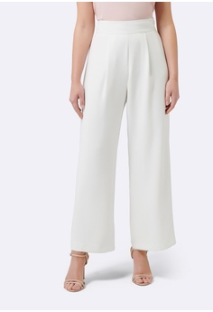15a568dc0c18 Forever New white Veronica Petite Wide Leg Pants 475D3AA9B03760GS 1