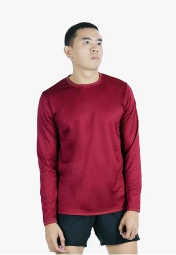 Trijee red Trijee Men Long Sleeve Tee Grant - Maroon 9AF44AA3715E03GS_1