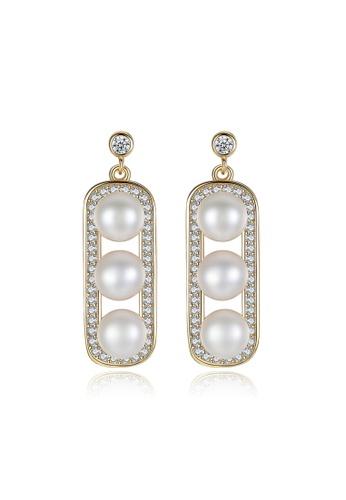 A.Excellence white Premium White Pearl Elegant Earring C07F8AC35B9026GS_1