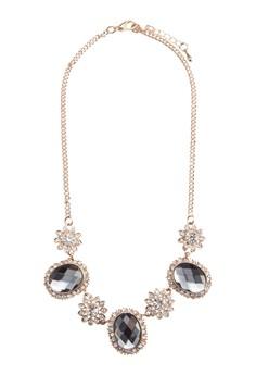 Flower Gem Embellished Necklace