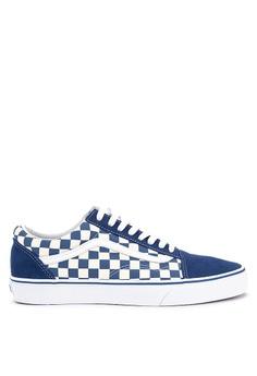 be1fb26262 Vans blue Primary Check Old Skool Sneakers 510DDSHEC0616FGS_1