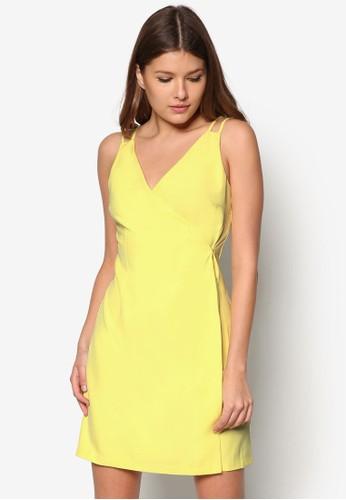雙肩帶裹飾zalora 包包 ptt連身裙, 服飾, 派對洋裝