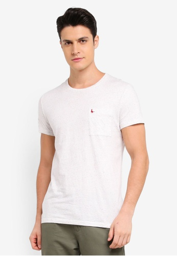 Jack Wills white Ayleford Nep T-Shirt 0385EAADED37F8GS_1