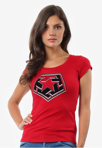 Tribal black and red Women's 3D Movie 02 Extend Tshirt C4042AAAFDECB9GS_1