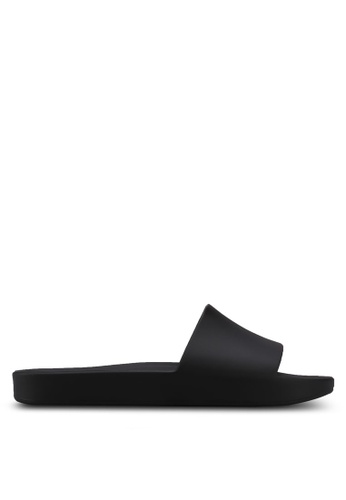 Melissa 黑色 Melissa Beach Slide Ad Sandals ME121SH0STK4MY_1