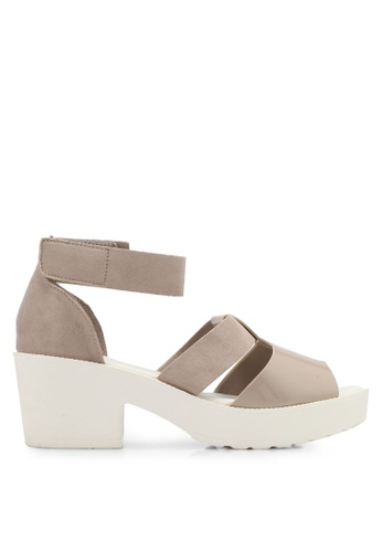 Rubi white and brown Brixton Heels RU506SH0T09OMY_1