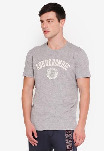 Abercrombie & Fitch 灰色 LOGO印花T恤 EEAC0AAAE9A362GS_1
