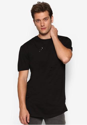 刷破長版T 恤、 服飾、 T恤Topman刷破長版T恤最新折價