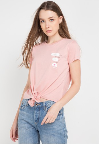 Ninety Degrees pink and multi Whatsup Tee B3ACAAAD6D5BA3GS_1