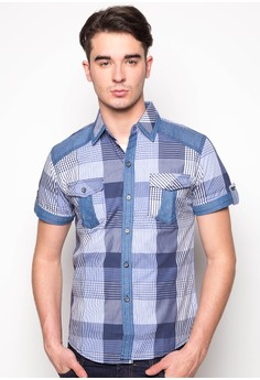 Fiel Checkered Button Down Shirt with 2 Pockets