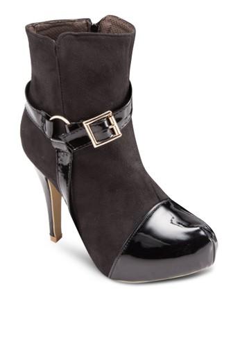 亮面鞋頭高跟短靴esprit hk outlet, 女鞋, 靴子