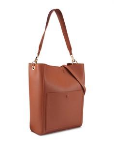 2e2cf1b4cd44dd 10% OFF ZALORA Contrast Strap Hobo Bag Rp 399.000 SEKARANG Rp 358.900  Ukuran One Size
