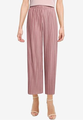 LOWRYS FARM pink Sheeny Pleated  Pants 61378AABBE8CDDGS_1